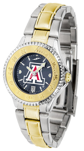 Arizona Wildcats Ladies Competitor Two-Tone Watch With Anochrome Dial