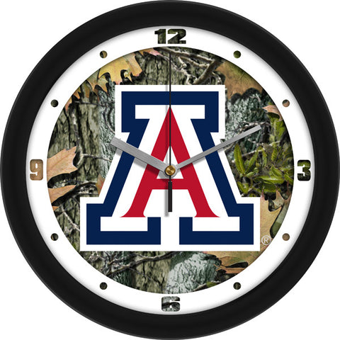 Mens Arizona Wildcats - Camo Wall Clock
