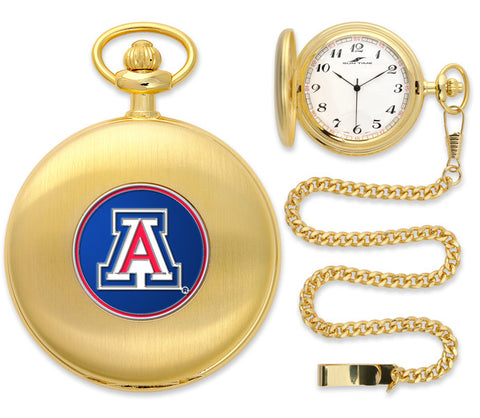 Mens Arizona Wildcats - Pocket Watch - Gold