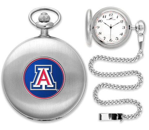 Mens Arizona Wildcats - Pocket Watch - Silver