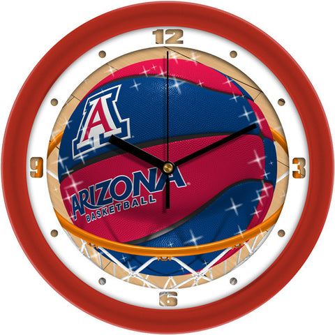 Mens Arizona Wildcats - Slam Dunk Wall Clock