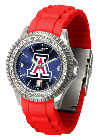 Arizona Wildcats Sparkle Watch With Color Band