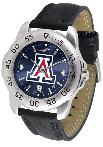 Arizona Wildcats Men Sport Watch With Leather Band & AnoChrome Dial