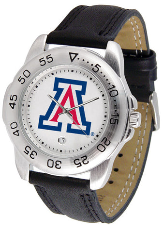 Arizona Wildcats Men Sport Watch With Leather Band