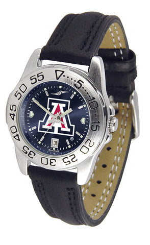 Arizona Wildcats Ladies Sport Watch With Leather Band & AnoChrome Dial