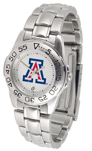Arizona Wildcats Ladies Sport Steel Watch
