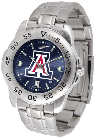 Arizona Wildcats Men Sport Steel Watch With AnoChrome Dial