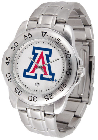 Arizona Wildcats Men Sport Steel Watch