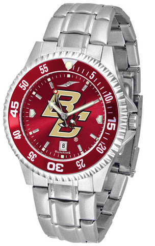 Mens Boston College Eagles - Competitor Steel AnoChrome Watch - Color Bezel