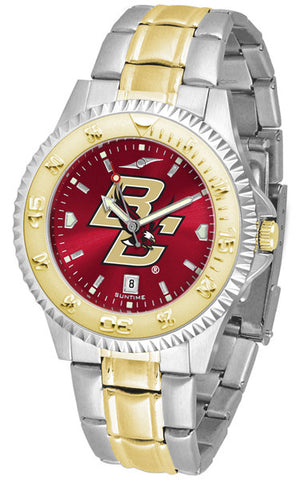 Boston College Eagles Men Or Ladies Competitor Two-Tone Watch With Anochrome Dial