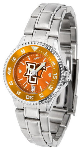 Bowling Green Falcons Ladies Competitor Steel Watch With AnoChome Dial, Color Bezel
