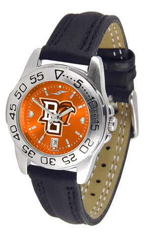 Bowling Green Falcons Ladies Sport Watch With Leather Band & AnoChrome Dial