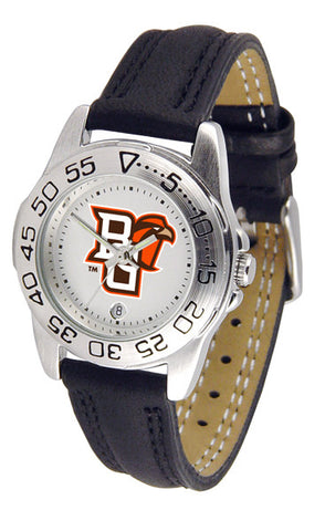 Bowling Green Falcons Ladies Sport Watch With Leather Band