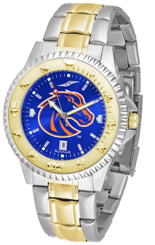 Boise State Broncos Men Or Ladies Competitor Two-Tone Watch With Anochrome Dial