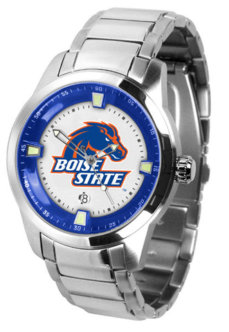 Mens Boise State Broncos - Titan Steel Watch