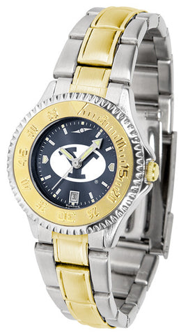 BYU Ladies Competitor Two-Tone Watch With Anochrome Dial
