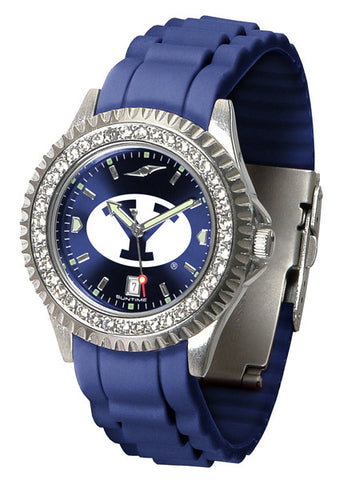 BYU Sparkle Watch With Color Band