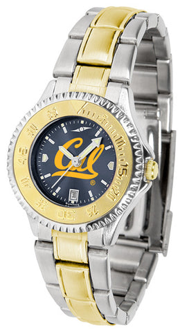Ladies California Berkeley Golden Bears - Competitor Two Tone AnoChrome Watch