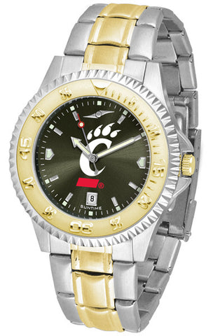 Cincinnati Bearcats Men Or Ladies Competitor Two-Tone Watch With Anochrome Dial
