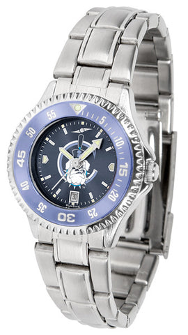 Ladies Citadel Bulldogs - Competitor Steel AnoChrome Watch - Color Bezel
