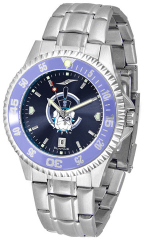 Mens Citadel Bulldogs - Competitor Steel AnoChrome Watch - Color Bezel