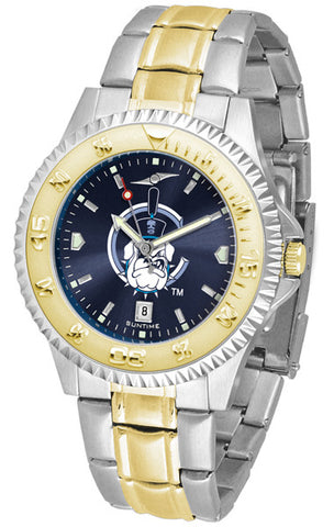 Citadel Bulldogs Men Or Ladies Competitor Two-Tone Watch With Anochrome Dial
