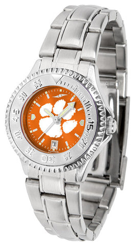 Clemson Tigers Ladies Competitor Steel Watch With AnoChome Dial