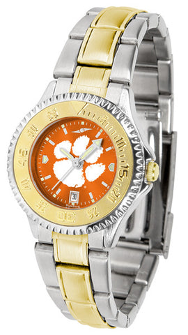 Clemson Tigers Ladies Competitor Two-Tone Watch With Anochrome Dial