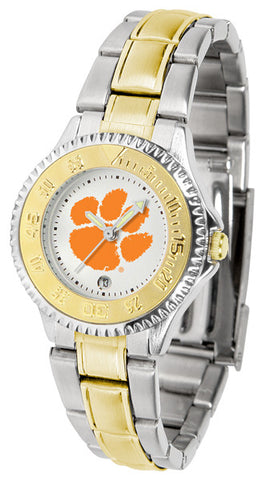 Clemson Tigers Ladies Competitor Two-Tone Watch