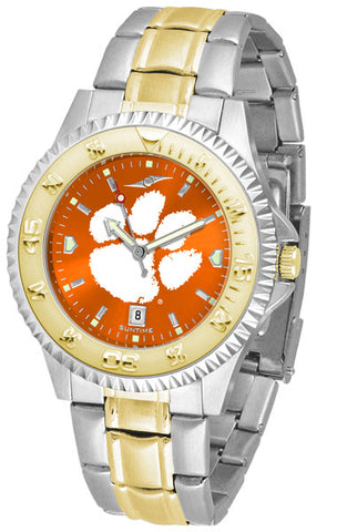 Clemson Tigers Men Competitor Two-Tone Watch With Anochrome Dial