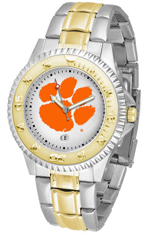 Clemson Tigers Men's Competitor Two-Tone Watch