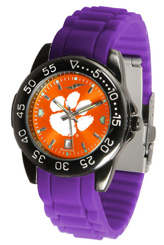 Clemson Tigers Fantom Sport AC Watch With Color Band