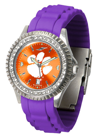 Clemson Tigers Sparkle Watch With Color Band