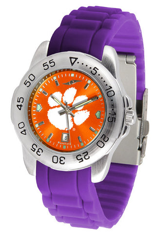 Clemson Tigers Sport AnoChrome Watch With Color Band