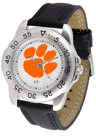 Clemson Tigers Men Sport Watch With Leather Band