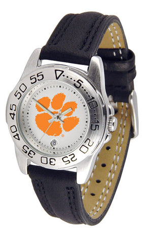 Clemson Tigers Ladies Sport Watch With Leather Band