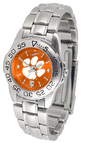Clemson Tigers Ladies Sport Steel Watch With AnoChrome Dial