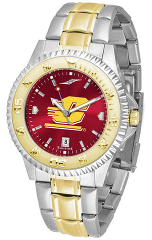 Central Michigan Chippewas Men Or Ladies Competitor Two-Tone Watch With Anochrome Dial