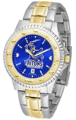 California San Diego Tritons Men Or Ladies Competitor Two-Tone Watch With Anochrome Dial