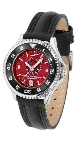 Ladies Central Washington Wildcats - Competitor AnoChrome Watch - Color Bezel