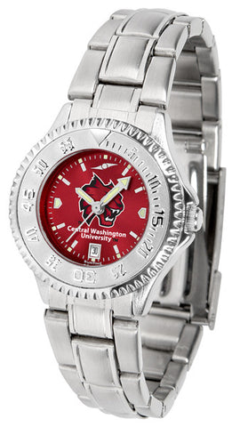Ladies Central Washington Wildcats - Competitor Steel AnoChrome Watch