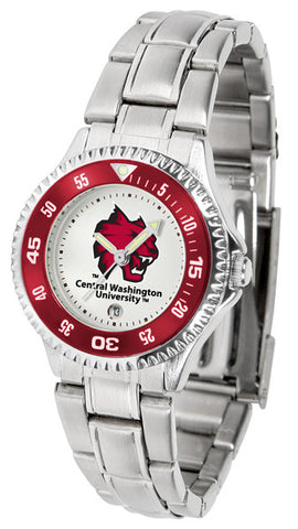 Ladies Central Washington Wildcats - Competitor Steel Watch