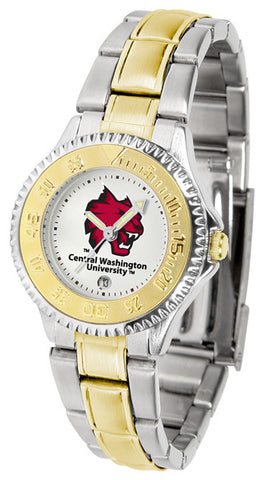 Ladies Central Washington Wildcats - Competitor Two Tone Watch
