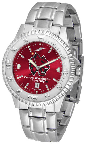 Mens Central Washington Wildcats - Competitor Steel AnoChrome Watch