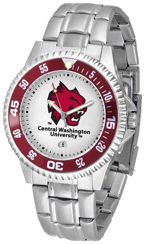 Mens Central Washington Wildcats - Competitor Steel Watch