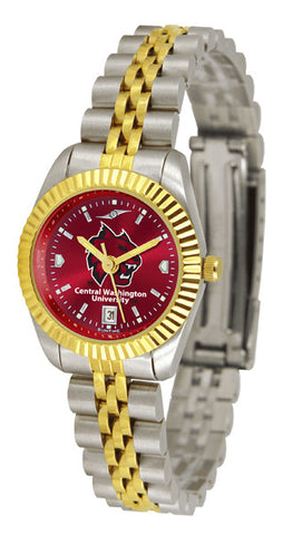 Ladies Central Washington Wildcats - Executive AnoChrome Watch