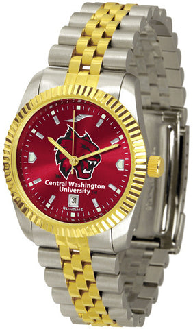 Mens Central Washington Wildcats - Executive AnoChrome Watch