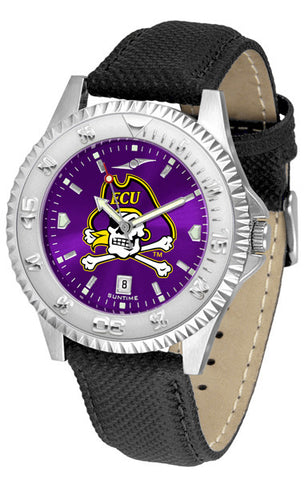 East Carolina Pirates Men  Competitor Watch With AnoChome Dial