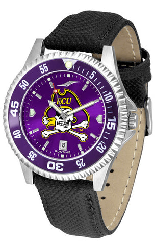East Carolina Pirates Men Competitor Watch With AnoChome Dial, Color Bezel