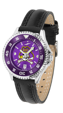 East Carolina Pirates Ladies Competitor Watch With AnoChome Dial, Color Bezel